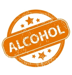 Alcohol grunge icon vector image