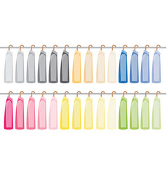 assorted suit hanging on a clothes rack vector image