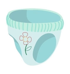 Baby pants cartoon icon vector image