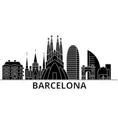 Barcelona architecture city skyline travel vector