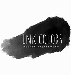 Black ink paint strokes vector