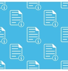 Blue information document pattern vector
