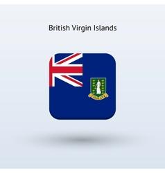 British Virgin Islands flag icon vector