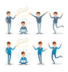 Business people showing presentation and working vector