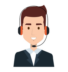 Call center agent avatar character vector