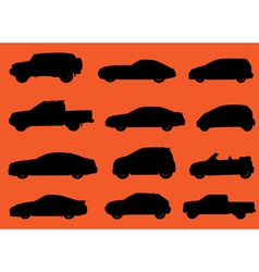 Cars silhouettes part 2 vector image vector image