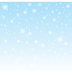 Christmas frozen background with snowflakes vector