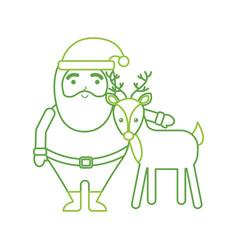 Christmas happy santa claus and reindeer vector