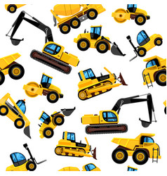 Construct machines seamless pattern heavy vector