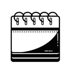 contour calendar information to organizer event vector image