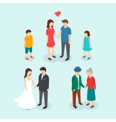 Couples love Family People wedding Children vector image