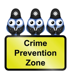 CRIME ZONE UK vector image