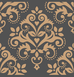 damask tiled wallpaper textile or fabric print vector image