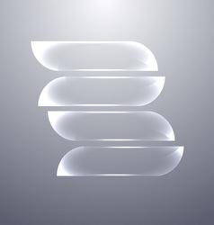 Design gray glass banners set vector
