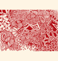 Doodle background in with doodles flowers vector
