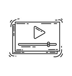 e-commerce icon video hand drawn icon set vector image