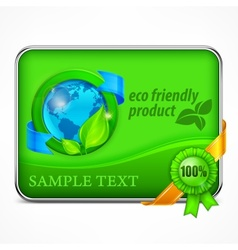 Eco friendly infographic in green vector image