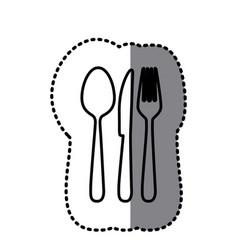 figure cutlery tools icon vector image