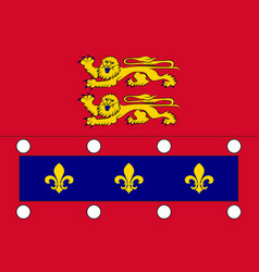 Flag of orne in normandy is a region of france vector