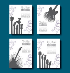 Four abstract guitar backgrounds to choose from vector
