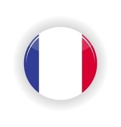 France icon circle vector image