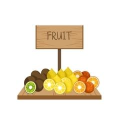 Fresh Fruit On Market vector