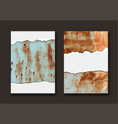grunge paper on metal texture background in a4 vector image