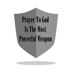 Hand lettering prayer to god is most powerful vector