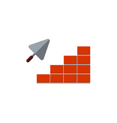 icons brickwork and building trowel vector image