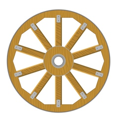 image of a wooden wheel vector image