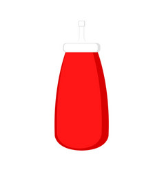 isolated ketchup bottle icon vector image