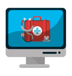 Isolated medical care design vector