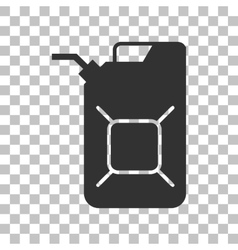 Jerrycan oil sign Jerry can oil sign Dark gray vector