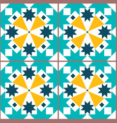 lisbon geometric tiles seamless pattern vector image