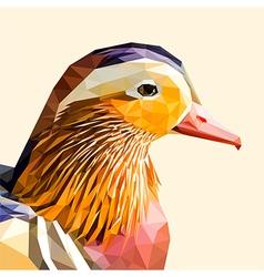 Mandarin duck portrait vector