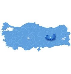 Map of Turkey Elazig vector