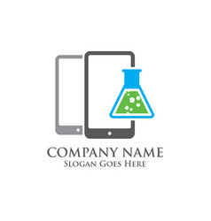 Mobile science logo vector