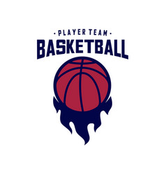 modern basketball sport logo design template vector image
