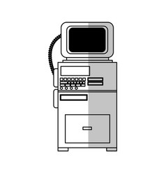 Monitor medical equipment vector