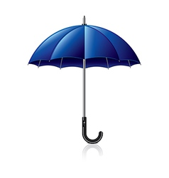 Object blue umbrella vector