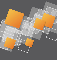 overlapping squares concept vector image
