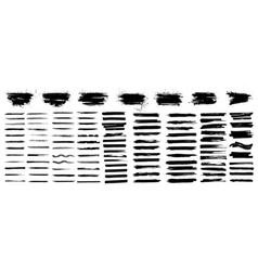 paintbrush collection beautiful brush stroke vector image