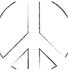 Peace day art line logo vector