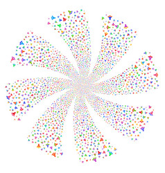Reader fireworks swirl flower vector
