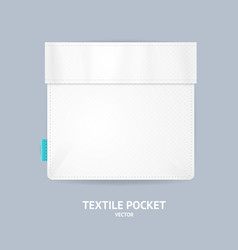 realistic detailed 3d white blank pocket template vector image