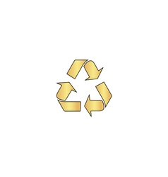 Recycling computer symbol vector image