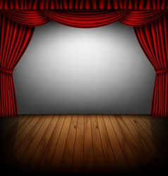 Red curtain and cinema screen vector