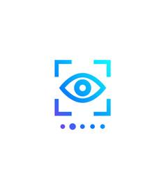 Retina scan biometric recognition eye scanner vector