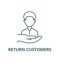 Return customers line icon linear concept vector