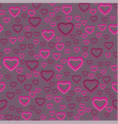 Seamless pattern of many hearts vector